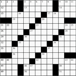 Crossword Puzzle Grid - 68 Words - 2 ft. x 2 ft. - Set of 30