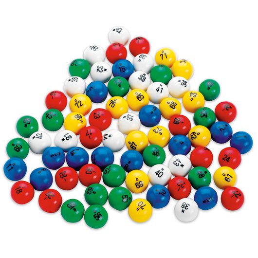 Bingo Balls Set - Plastic Multicolored