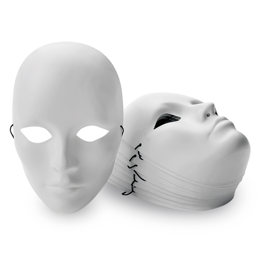 White Plastic Masks - Female