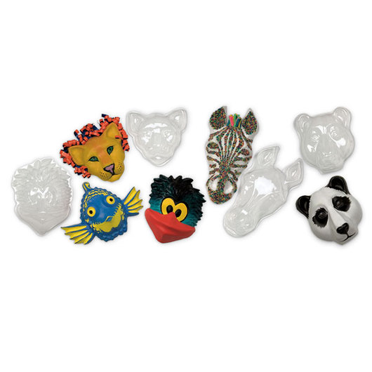Roylco® Animal Face Forms™ - Pkg. of 5