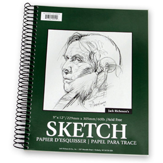 Jack Richeson® Spiral-Bound Sketchbook - 100 Sheets - 9 in. x 12 in. - 60 lb.