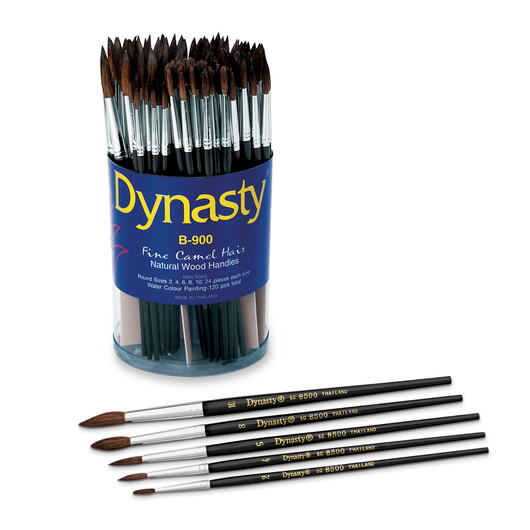 B-900 Dynasty® Watercolor Assortment - 120 Brushes