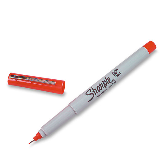 Sharpie® Ultra-Fine Point Markers - Box of 12 - Red