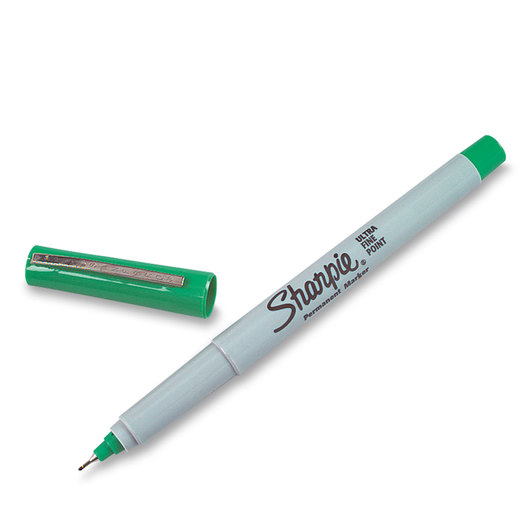 Sharpie® Ultra-Fine Point Markers - Box of 12 - Green