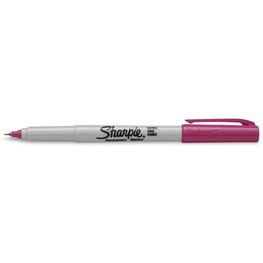 Sharpie® Ultra-Fine Point Markers - Box of 12 - Power Pink