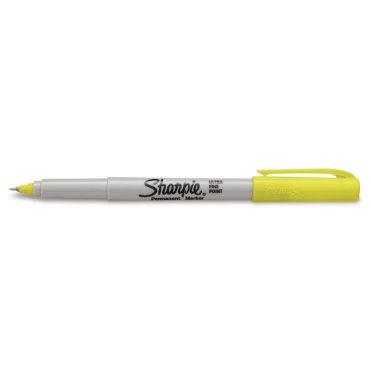 Sharpie® Ultra-Fine Point Markers - Box of 12 - Supersonic Yellow