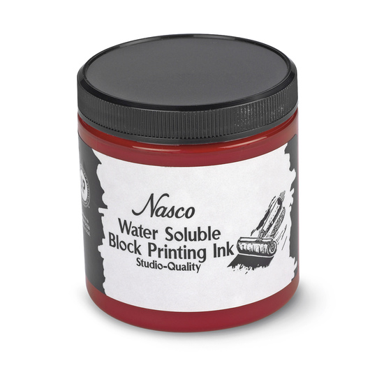 Nasco Water-Soluble Block Printing Ink - 8-oz. Jar - Red