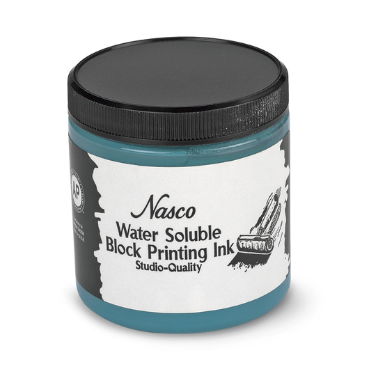 Nasco Water-Soluble Block Printing Ink - 8-oz. Jar - Turquoise