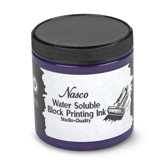 Nasco Water-Soluble Block Printing Ink - 8-oz. Jar - Violet