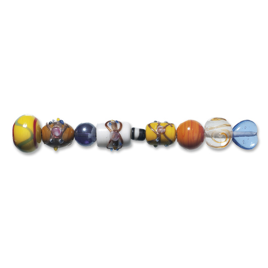 Mixed Deluxe India Glass Beads - 12-oz. Pkg.