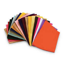 Polyester Felt - Pkg. of 100, 9 in. x 12 in. Assorted Colors