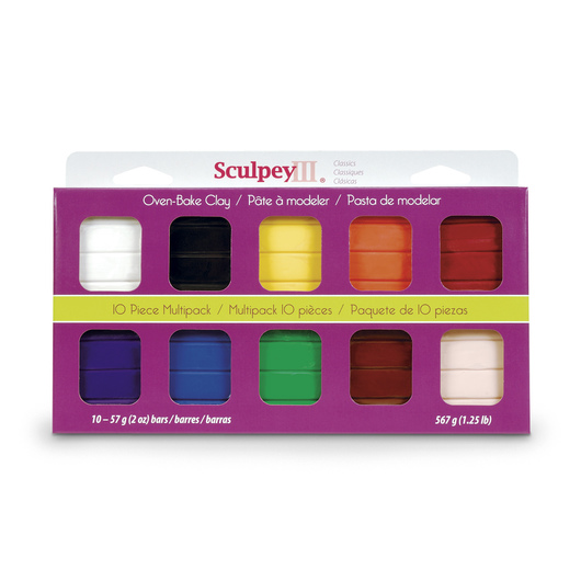 Sculpey III® 10-Piece Multi-Pack - Classic