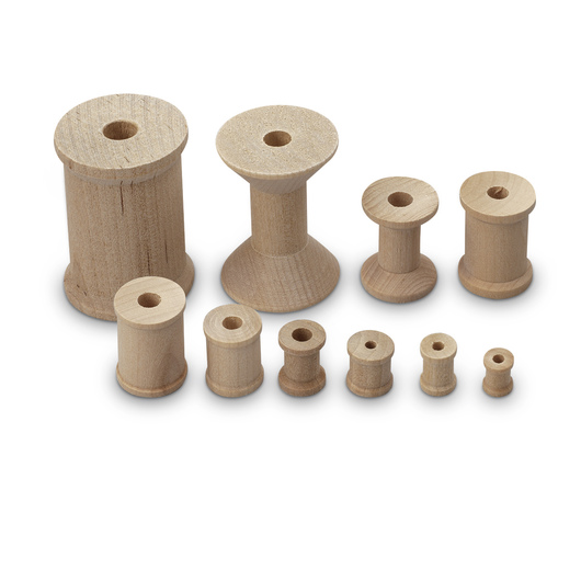 Wooden Spool Assortment - Pkg. of 100