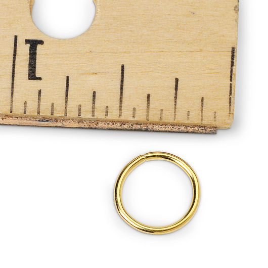 Gilt Jump Ring, 5/16 in.