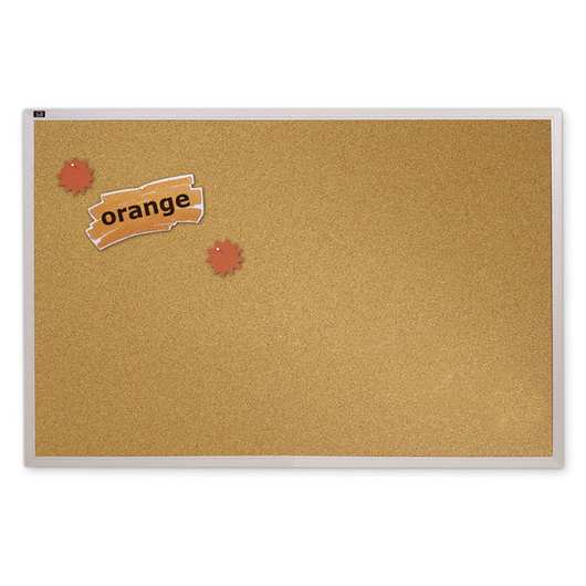 Quartet® Natural Cork Bulletin Board - 4 ft. x 6 ft.