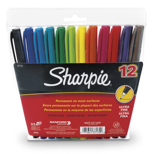 Sharpie® Ultra-Fine Point Markers - 12-Color Set