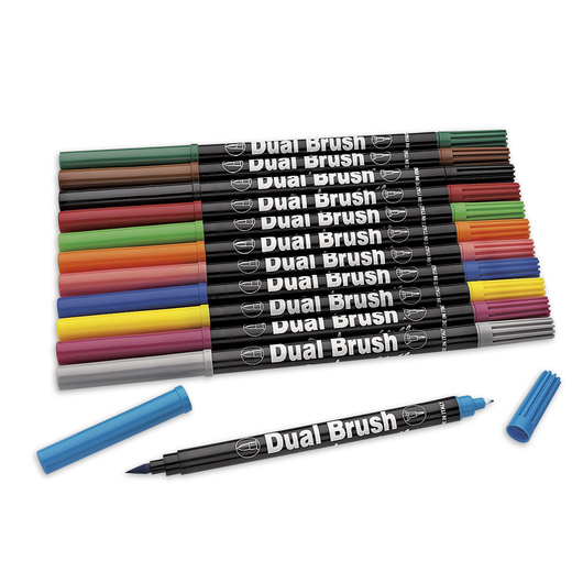 Dual Brush Markers - Set of 12