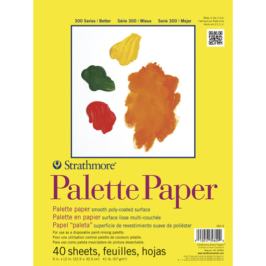 Strathmore® Paper Palette - 40 - 9 in. x 12 in. Sheets Pad - 41 lb.