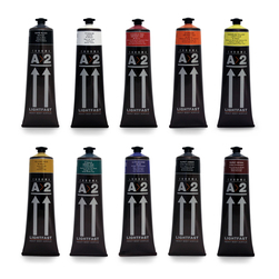 Chroma® A>2 Lightfast Heavy Body Artist Acrylics - Set of 10 Tubes