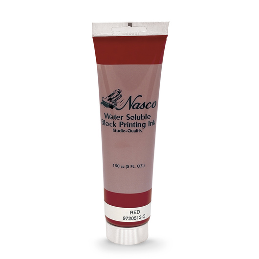 Nasco Water-Soluble Block Printing Ink - 5-oz. Tube - Red