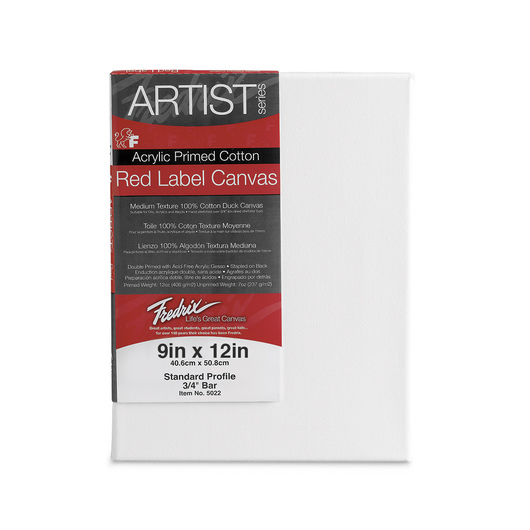 Fredrix® Artist Red Label Stretched Canvas - 9 in. x 12 in.