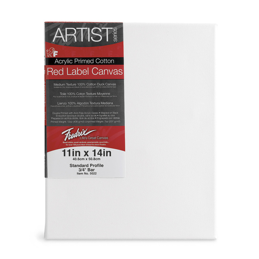 Fredrix® Artist Red Label Stretched Canvas - 11 in. x 14 in.