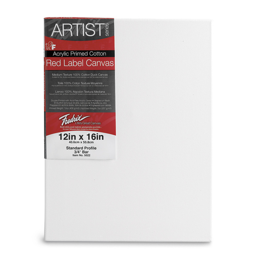 Fredrix® Artist Red Label Stretched Canvas - 12 in. x 16 in.