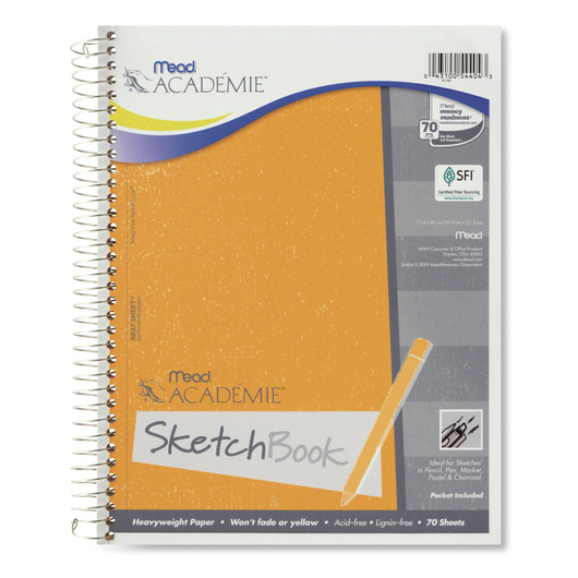 Mead® Académie™ Sketch Book - 70 Sheets - 8-1/2 in. x 11 in.