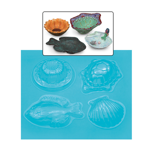 "Nasco ""Create-A-Dish"" Molds - Set of 4"
