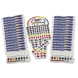 PRANG Oval Pan Watercolor Classroom Pack