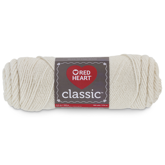 Red Heart Classic™ Knitting Yarn - Eggshell