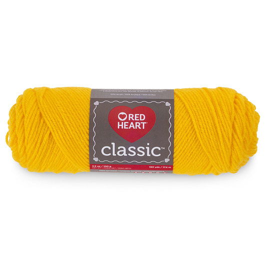 Red Heart Classic™ Knitting Yarn - Golden Yellow