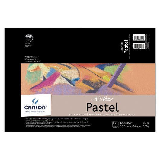 Canson® Mi-Teintes® Pastel Pad - 24 Sheets 12 in. x 16 in. - 75 lb.