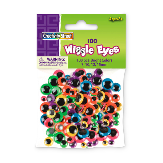 Pacon® Brightly-Colored Wiggle Eyes - Pkg. of 100