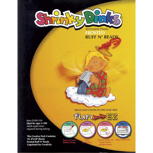 Shrinky Dinks® Shrinkable Plastic - Frosted Ruff N' Ready 10-Sheet Pack