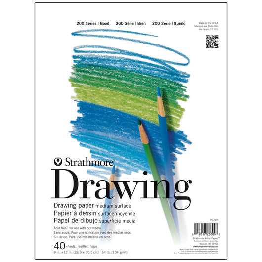 Strathmore® Drawing Art Pads - 40 Sheets - 9 in. x 12 in. - 64 lb.