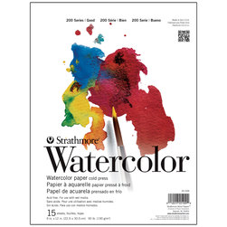 Strathmore® Student Watercolor Pad - 9 in. x 12 in. - 15 Sheets - 90 lb.
