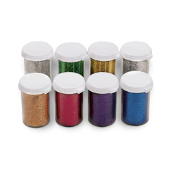Microbrite Glitter Variety Pack - Set of 8 - 0.2-oz. Vials