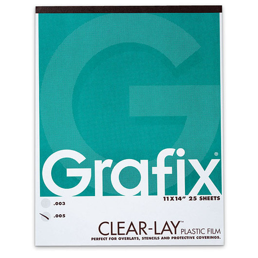 Grafix® Clear-Lay™ Pad - Pad of 25 - 11 in. x 14 in.