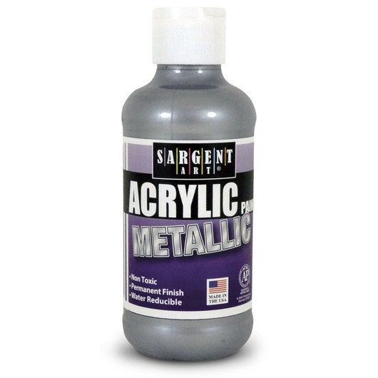 Sargent Art® Metallic Acrylic Paint - Silver - 8 oz.