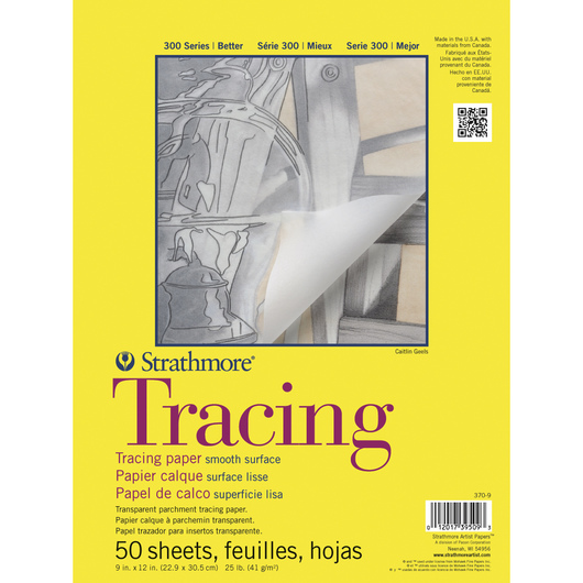 Strathmore® 300 Series Tracing Paper Pad - 9 in. x 12 in. - 50 Sheets - 25 lb.