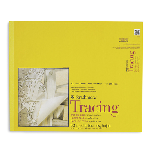 Strathmore® 300 Series Tracing Paper Pad - 14 in. x 17 in. - 50 Sheets - 25 lb.