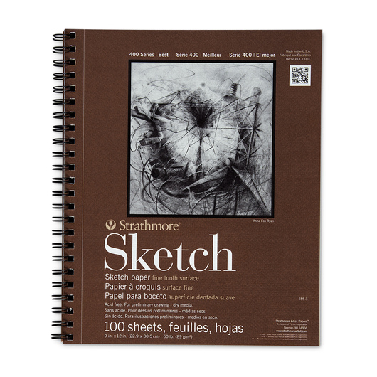 Strathmore® 400 Series Sketchbook - 100 Sheets - 9 in. x 12 in. - 60 lb.