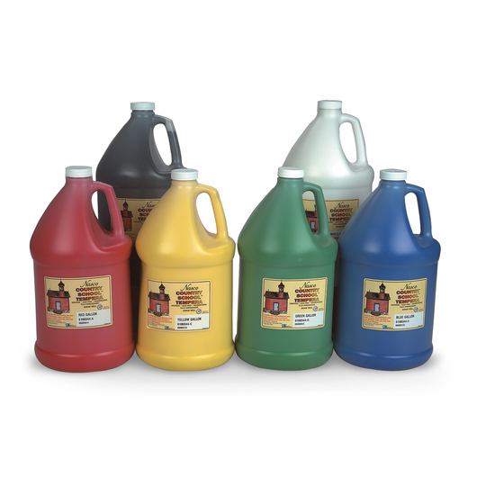 Nasco Country School™ Tempera Paint - Set of 6 Gallons
