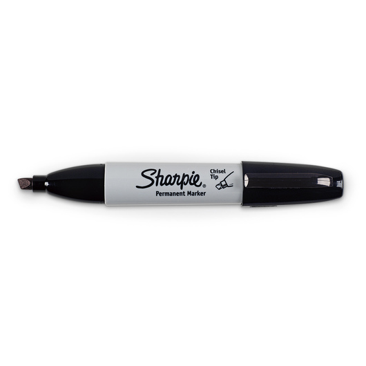 Sharpie® Chisel-Tip Markers - Black - Box of 12