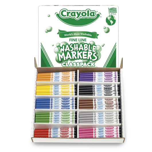 Crayola® Ultra-Clean Washable® 10-Color Fine-Tip Marker Classpack®