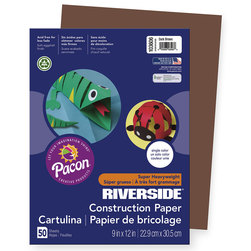 "Pacon® Riverside® ""Super Heavyweight"" Groundwood Construction Paper - 9 in. x 12 in.- Blue-Green"
