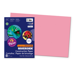 "Pacon® Riverside® ""Super Heavyweight"" Groundwood Construction Paper - 12 in. x 18 in.- Red"