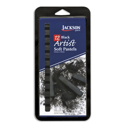 Artist Soft Pastels - Set of 12 - Black