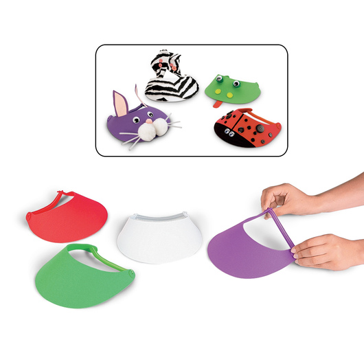 Ready-to-Decorate Foam Visors - Pkg. of 24